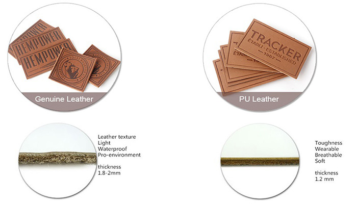 Comparison of leather and PU leather