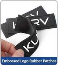 Embossed Logo Rubber Patches