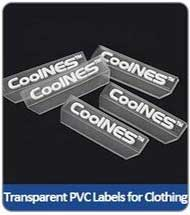 Transparent PVC Labels for Clothing