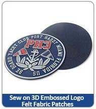 Sew on 3D Embossed Logo Felt Fabric Patches