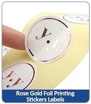 Rose Gold Foil Printing Stickers Labels