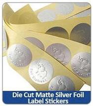 Die Cut Matte Silver FoilLabel Stickers