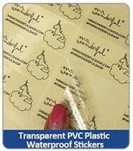 Transparent PVC PlasticWaterproof Stickers