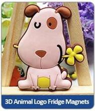 3D Animal Logo Fridge Magnets