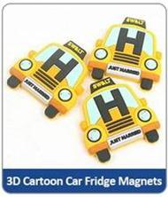 3D Cartoon Car Fridge Magnets