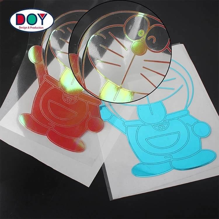Custom Holographic Film Heat Transfer Printing Labels And Glitter Heat Transfers