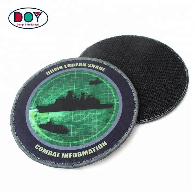 Custom Logo Uniform Sublimation Printing On Patches With Adhesive Hook (2)