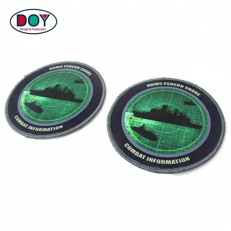 Custom Logo Uniform Sublimation Printing On Patches With Adhesive Hook (5)