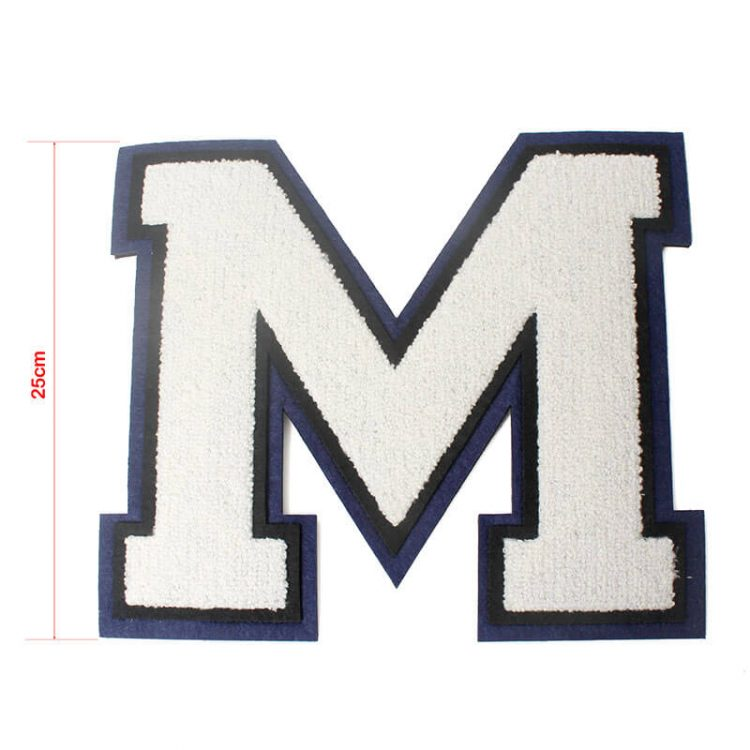 Custom Numbers Varsity Letters Logo Cheap Embroidery Iron on Chenille Patches Letters for Sportswear
