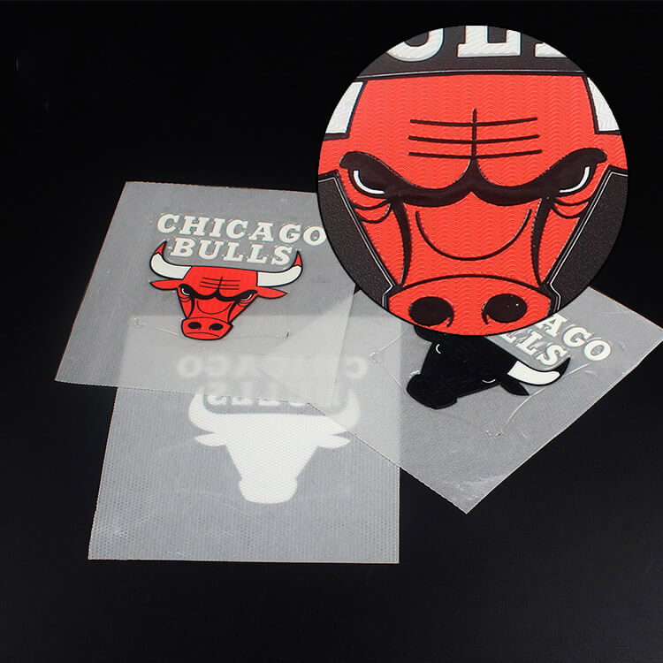 Hot Custom Basketball Club Logo Silk Screen Printed High Frequency Embossed Soft TPU Label Patch (5)
