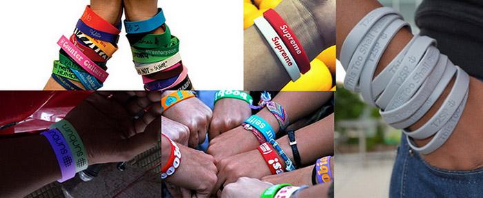Silicone Wristbands Usage