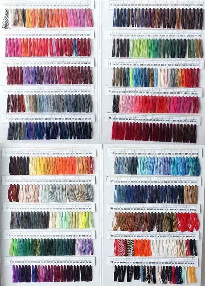 Hang Tag String Color Chart