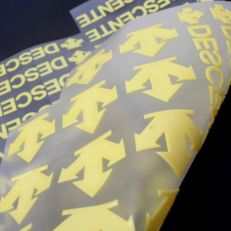Iron On Printed Custom 3D Logo Silicone Heat Transfer