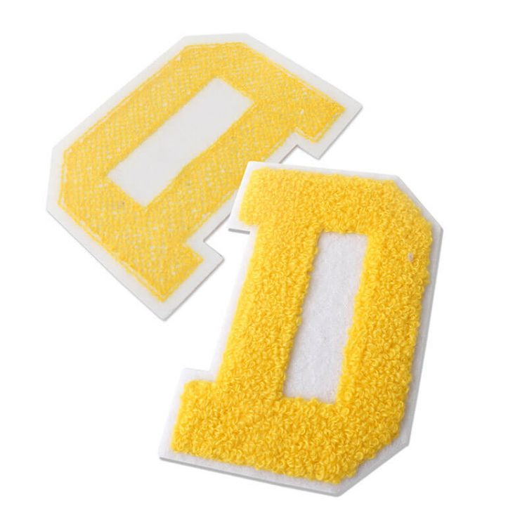 Iron on Personalized Fashion Design Custom Stitch Towel Logo Embroidery Chenille Patches Letters