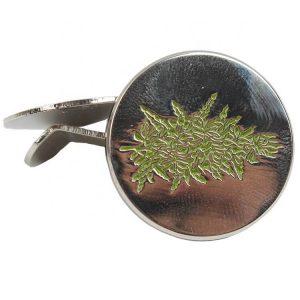 Soft Enamel Metal Magnet Hat Clips With 3D Leaf Logo