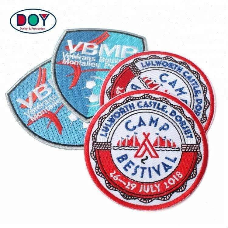 Wholesale Heat Cut Custom Brand Name Sports Club Custom Logo Embroidered Patches For Clothing