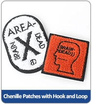 chenille patches with hook and loop
