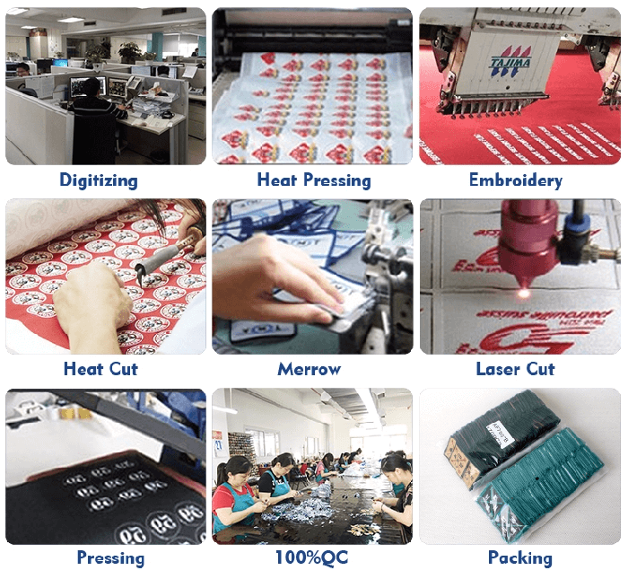 embroidery patches making process
