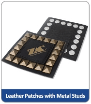 leather patches with metal studs