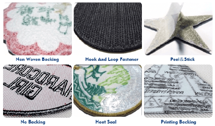 embroidered patch's backing series
