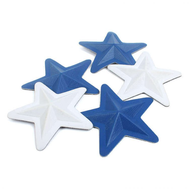 3d Embossed Star PU Leather Labels for Hats