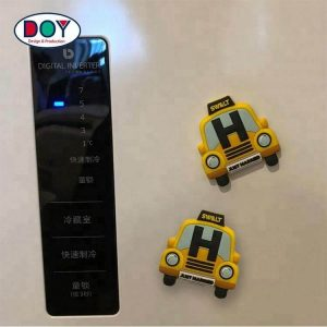 Custom 3D Cartoon Car Logo Soft PVC Rubber Fridge Magnets for Decoration