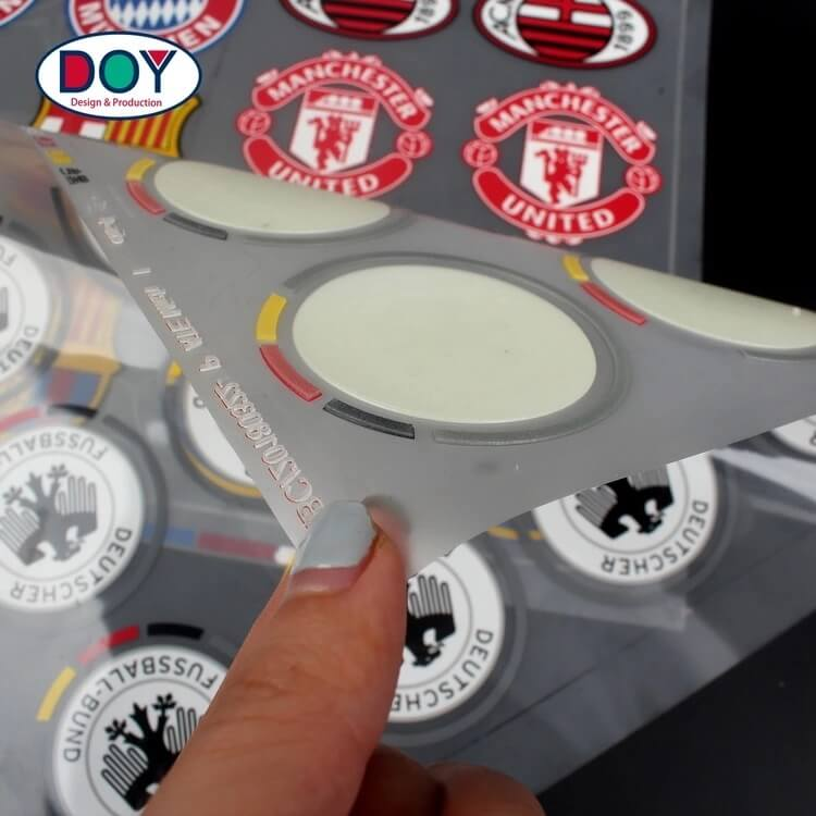 3d rubber heat transfer logo silicone