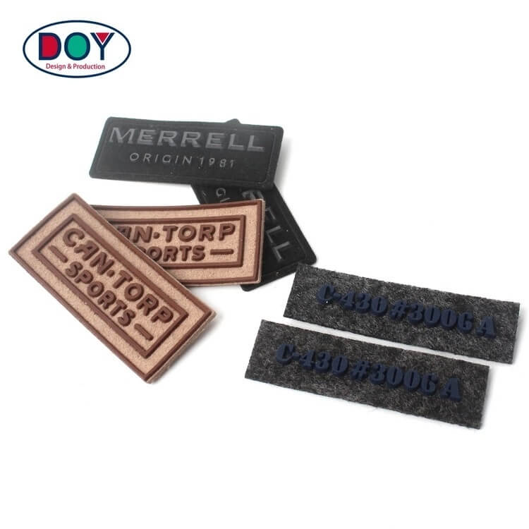3d silicone raised logo label and patches