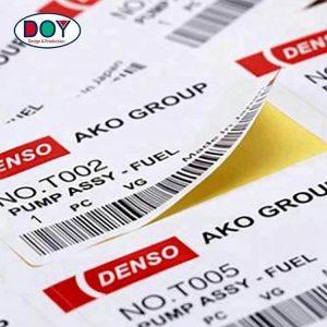 Print Barcode Logo Label Heat Sensitive Paper Adhesive Packaging Stickers