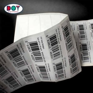 Custom Printing Adhesive Paper Commercial Barcode Shipping Stickers Labels