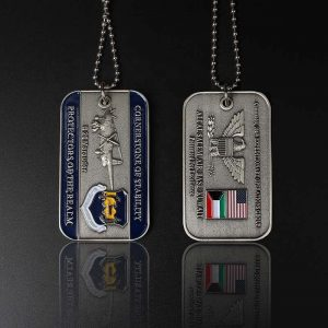 Custom Engraved 3d Embossed Military Brass Metal Dog Tags with Chain