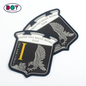 Felt Labels Supplier Eagle Logo Patch With Soft Rubber Silicone