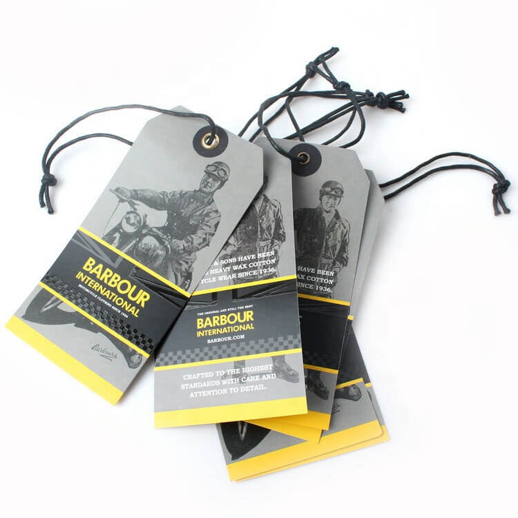 Clothing Hang Tags with String