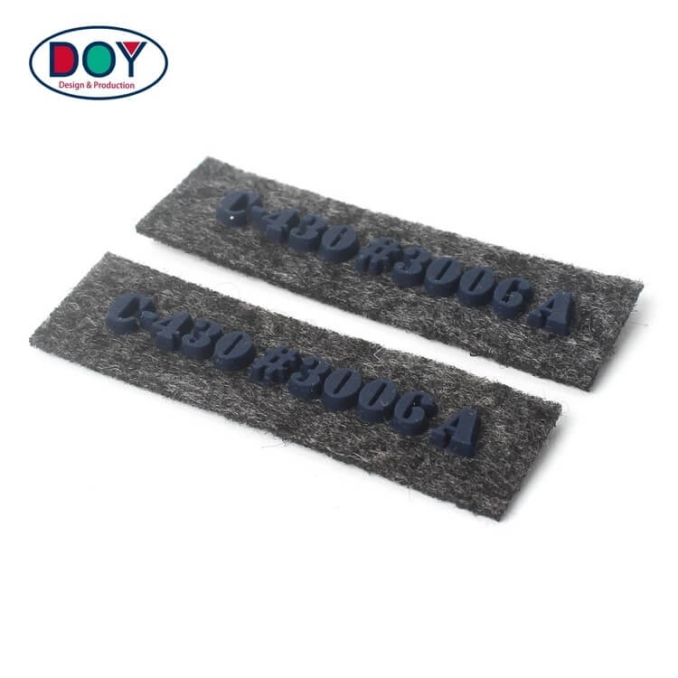 Clothing Labels Maker Sew on Custom 3D Raised Silicone Name Logo Suede Leather Patches and Badges
