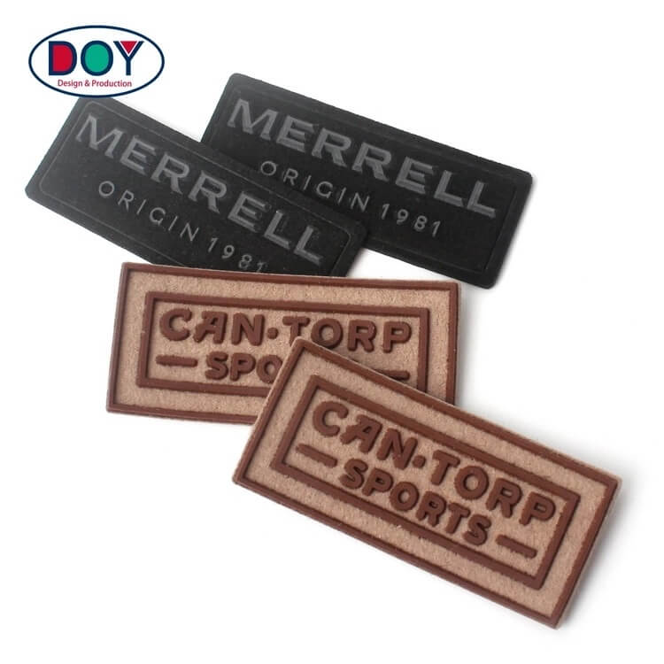 Custom 3D Felt Silicone Suede Leather Labels And Patches