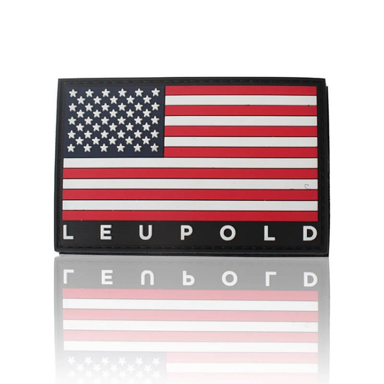 Custom 3D Soft PVC Rubber Small American Flag Patches