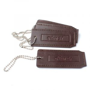 Wholesale Custom Debossed Logo Leather Tags Label for Bags
