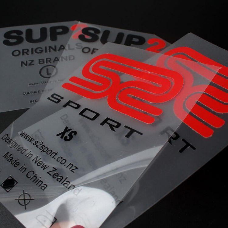 Custom Brand Name Heat Transfer Printed Vinyl Wash Care Clothing Labels