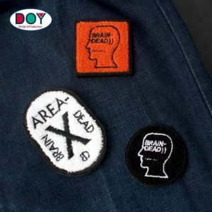 Custom Embroidery Chenille Patches and Badges with Adhesive Hook and Loop