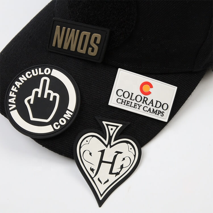 Custom Design Embossed Logo PVC 3D Soft Rubber Patches