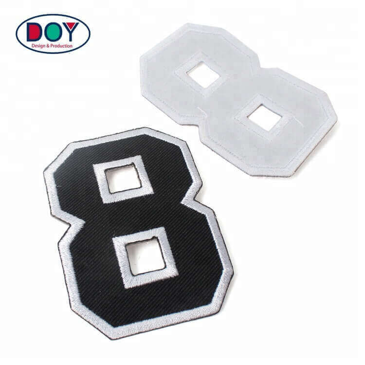 Custom Embroidery Number and Letters Patches Maker Embroidered Letters Patches with Iron On