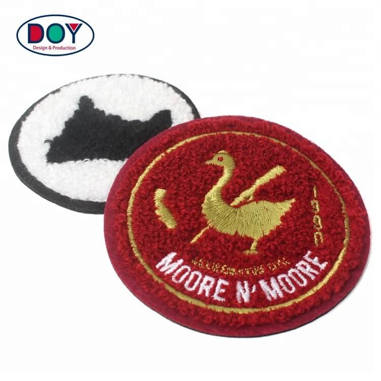 Custom Logo Fabric Chenille Iron On Patches