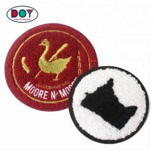 Wholesale Custom Logo Fabric Chenille Iron On Patches