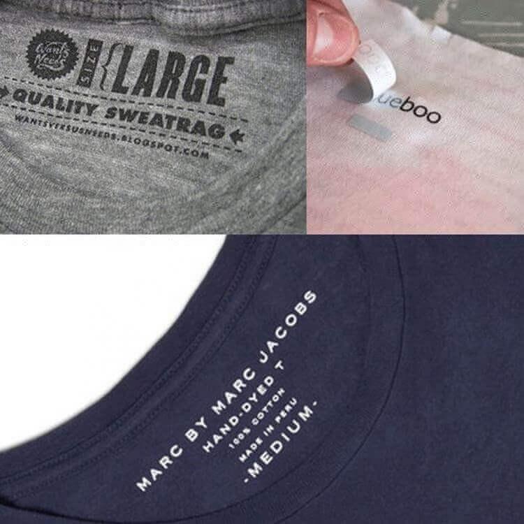 Custom Logo Printed PET Tagless Heat Transfer Clothing Care Labels