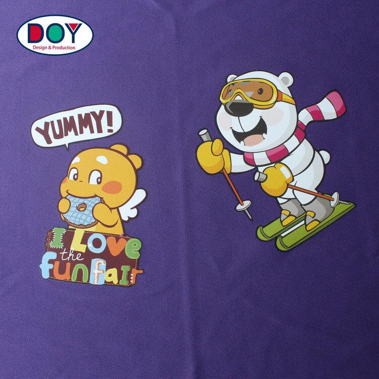 Custom Printed Cartoon Logo Heat Press Transfer Film Clothing Label