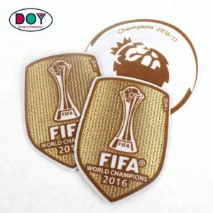 3D Sports Team Club Logo Flocking Heat Transfer Patches