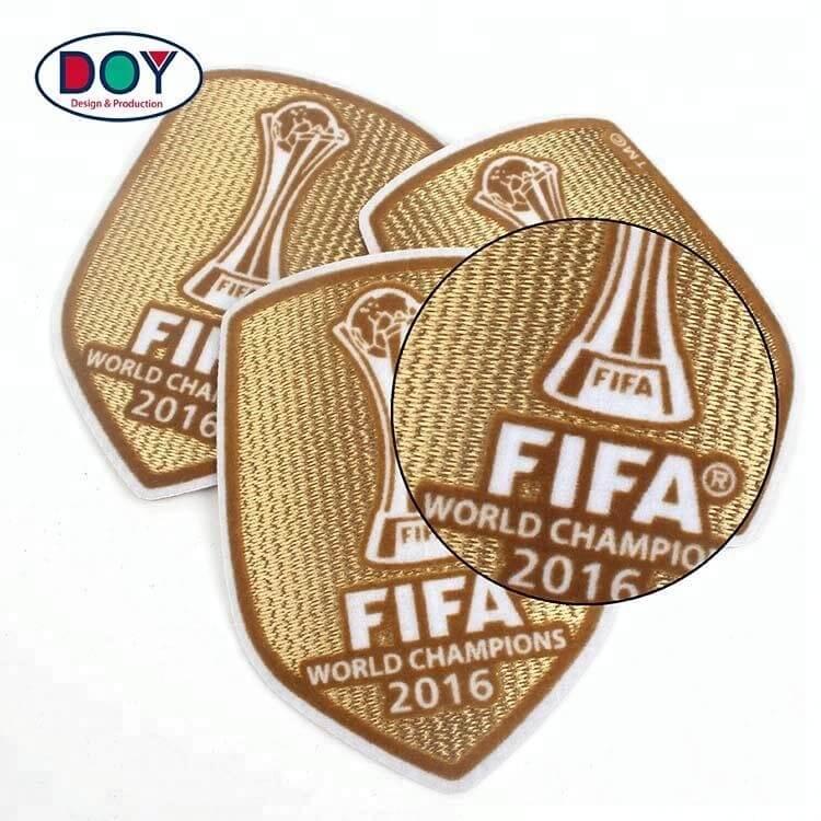 3D Sports Team Club Logo Flocking Heat Transfer Patches