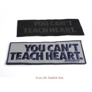 Custom Reflective Letter Embroidery Sew On Velcro Id Patches For Jackets