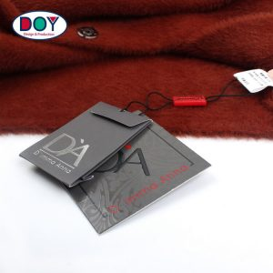 Custom Silver Foil Printing Logo Spare Button Bag With Hangtags String