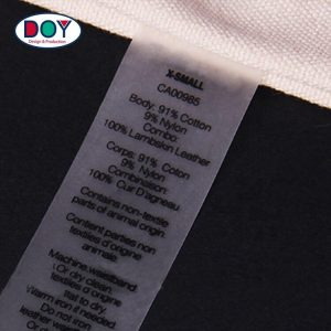 Custom Screen Printing Clear TPU Clothing Washing Care Instructions Labels